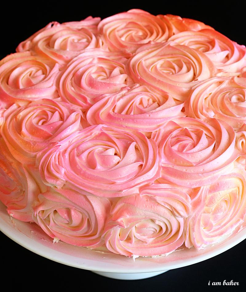 Как сделать торт с розой