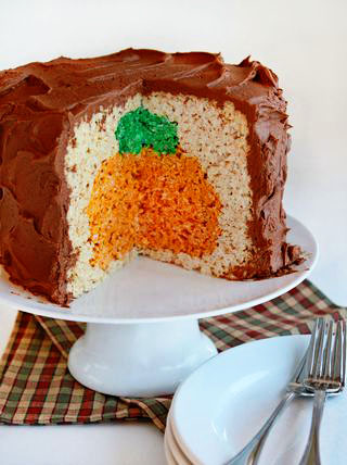 Pumpkin-inside-rice-crispy-cake